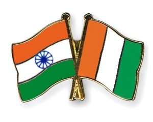 Ivorian and Indian Flags