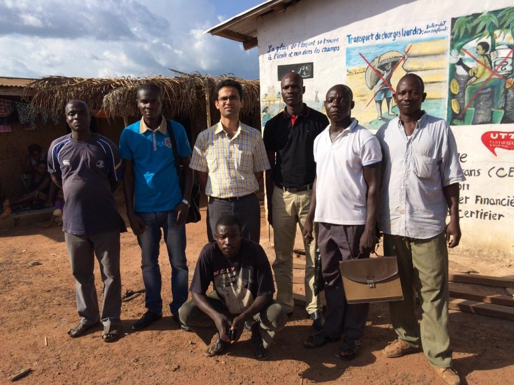 My Hubby with Cocoa Suppliers in Upcountry Ivory Coast