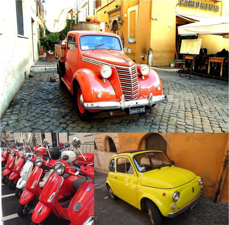 Quaint Vehicles in Rome