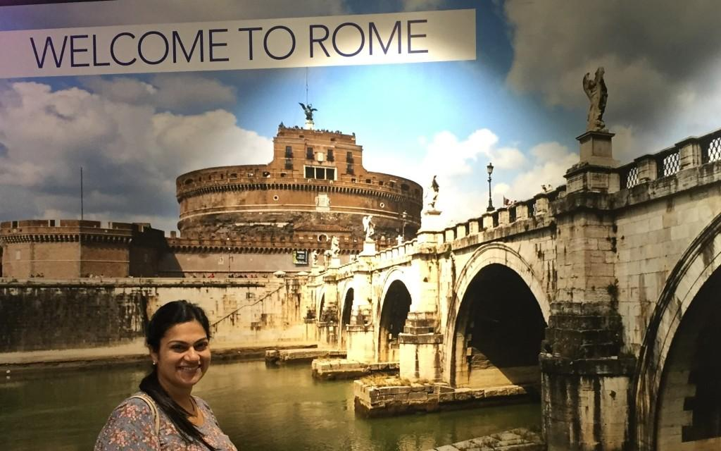 Welcomed to Rome