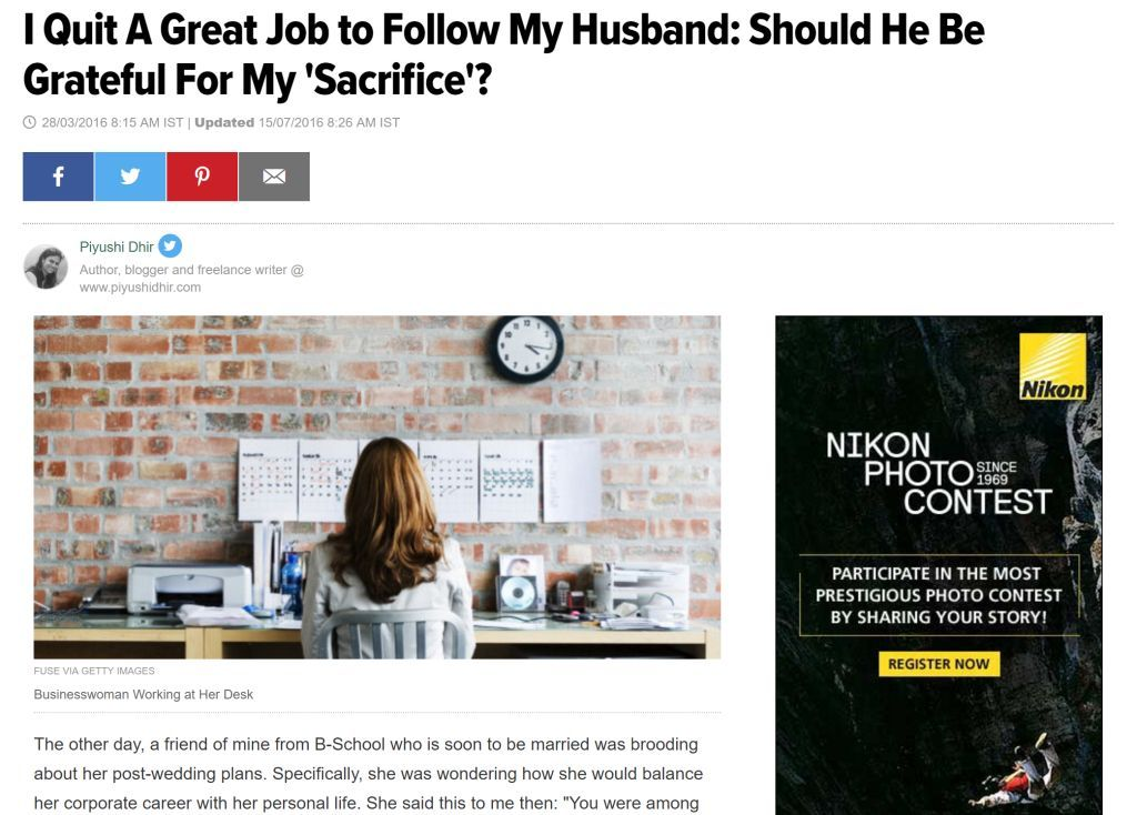 My Article on Huffington Post