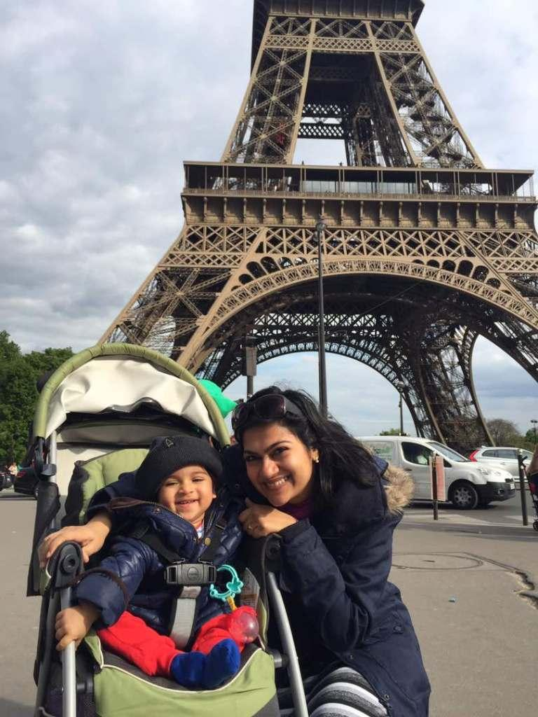 Mom and Baby in Paris