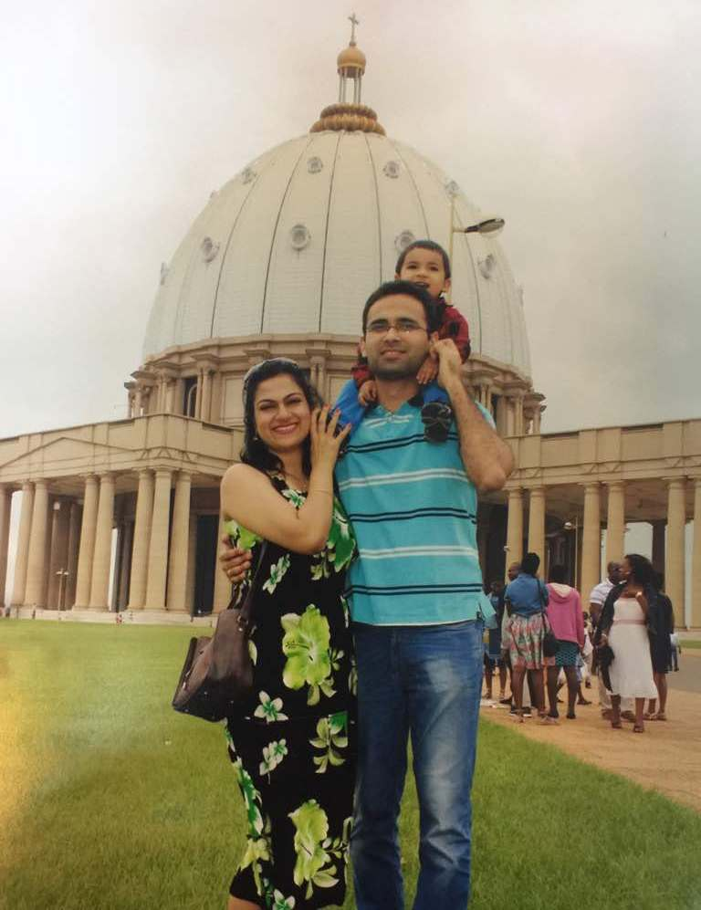 At the Basilica of Yamoussoukro