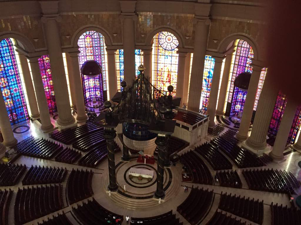 Inside of the Basilica at Yamoussoukro
