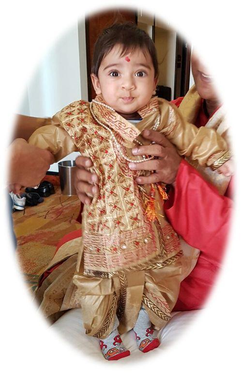 Indian Baby in Ethnic Clothes