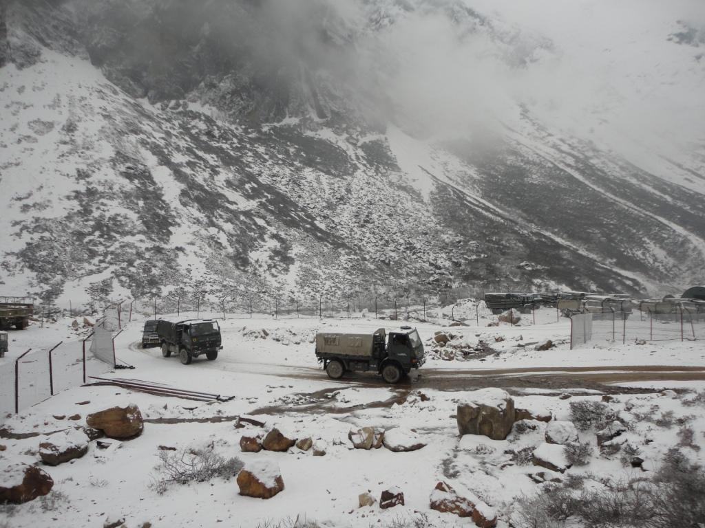 A Pause at a Military Base While We Wait for the Snow to Clear- North Sikkim
