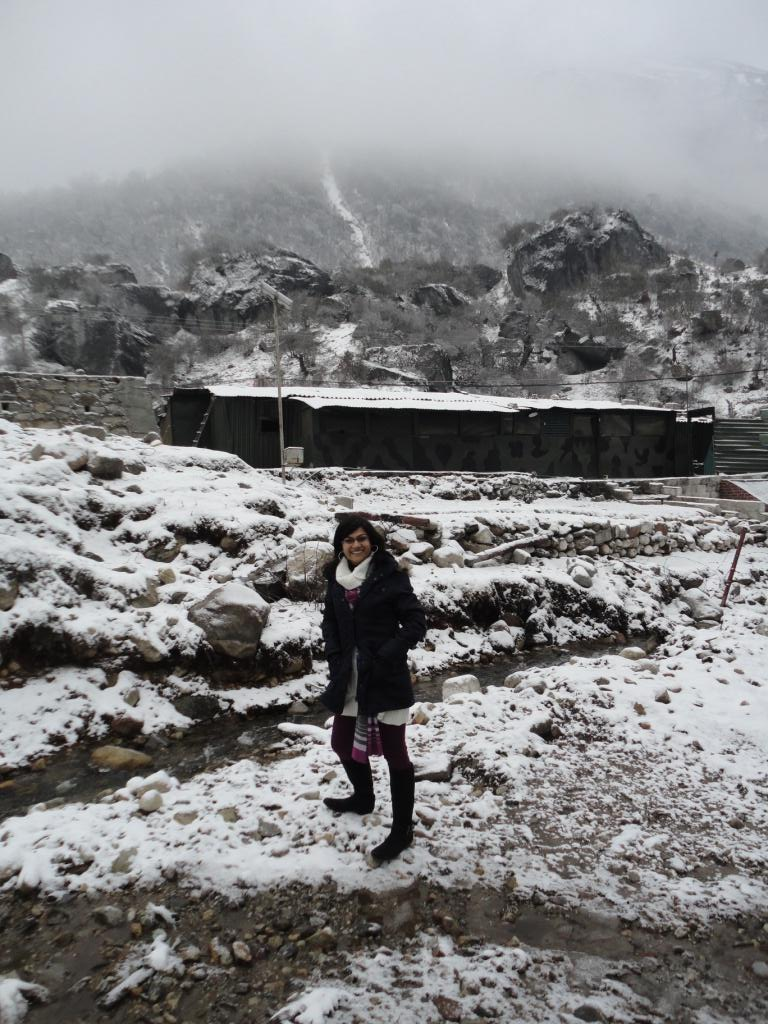 When Dawn Comes, We See Snow Around Us- North Sikkim