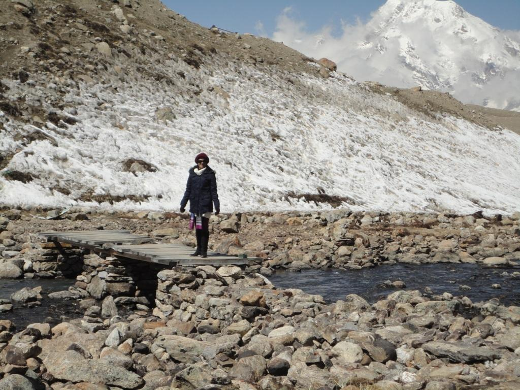 Where the Gurudongmar Lake Flows into River Teesta in North Sikkim