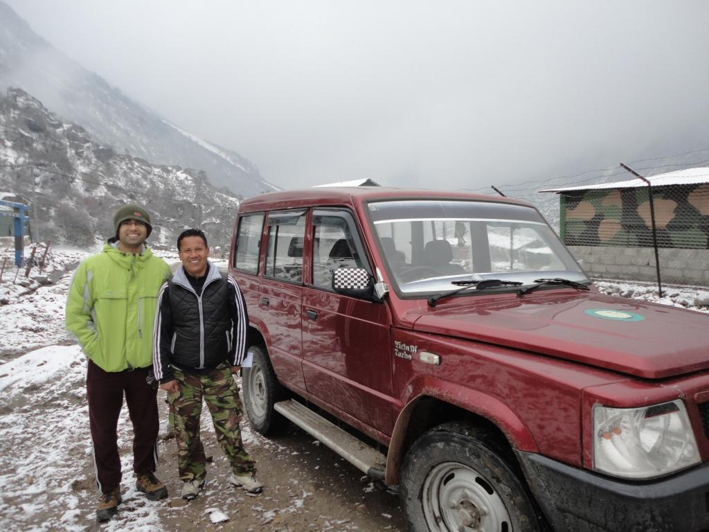 With Khum-Sum, our Friend and Guide in North Sikkim