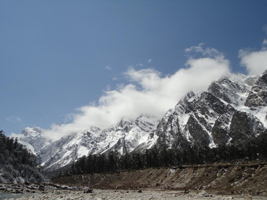 Snow Clad Mountains Surrounding Yumthang Valley, North Sikkim