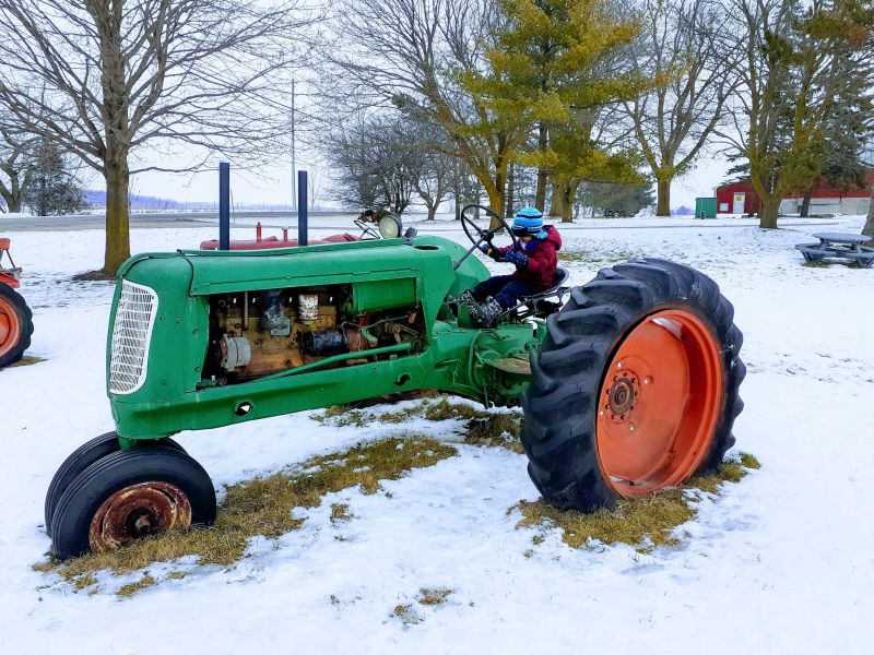 White Feather Farm in the Winter