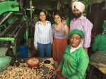 With the Factory's Oldest Female Worker and Simranjeet